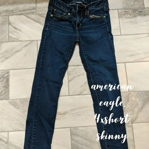 American eagle jeans, xshort, 4p